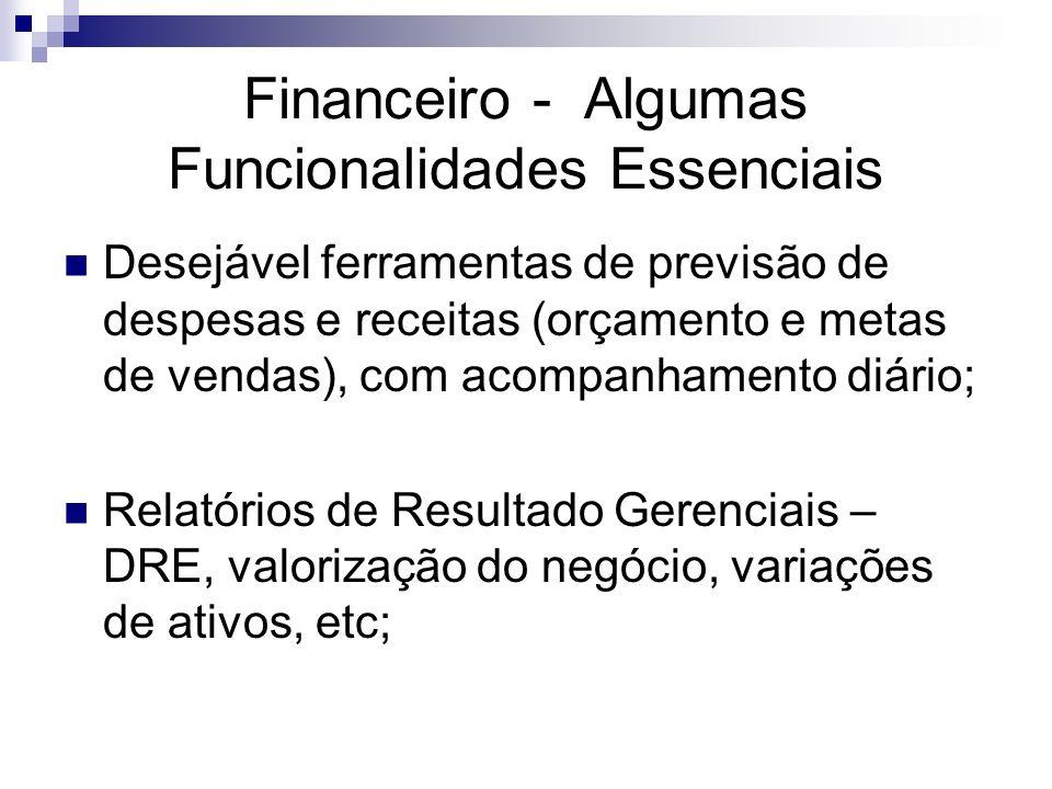Financeiro - Algumas Funcionalidades Essenciais