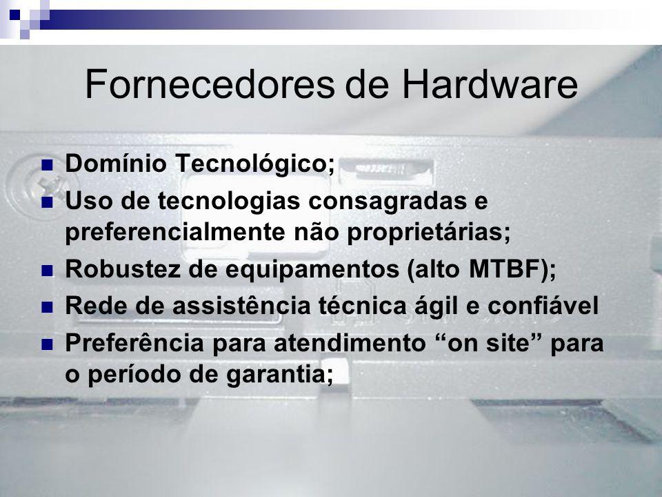 Fornecedores de Hardware