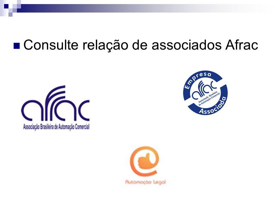 Consulte relação de associados Afrac