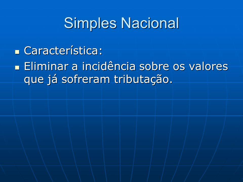 Simples Nacional Característica: