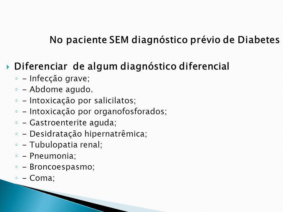 No paciente SEM diagnóstico prévio de Diabetes