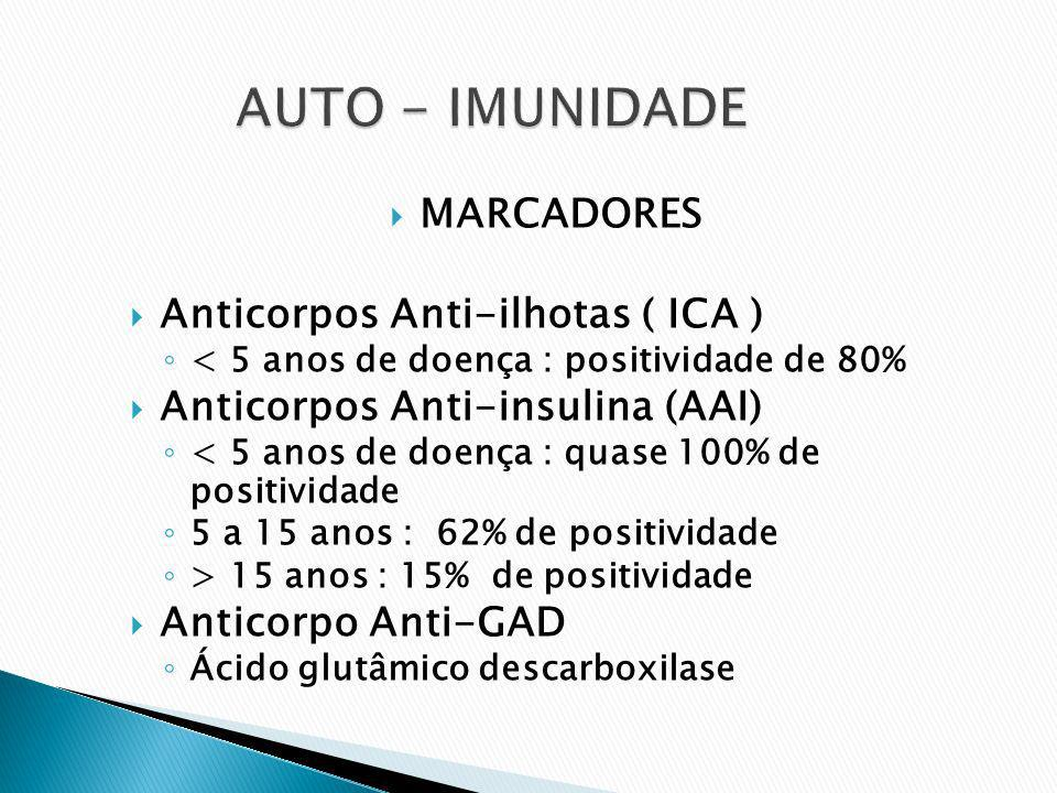 AUTO - IMUNIDADE MARCADORES Anticorpos Anti-ilhotas ( ICA )