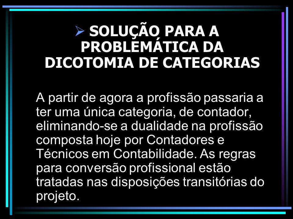 SOLUÇÃO PARA A PROBLEMÁTICA DA DICOTOMIA DE CATEGORIAS