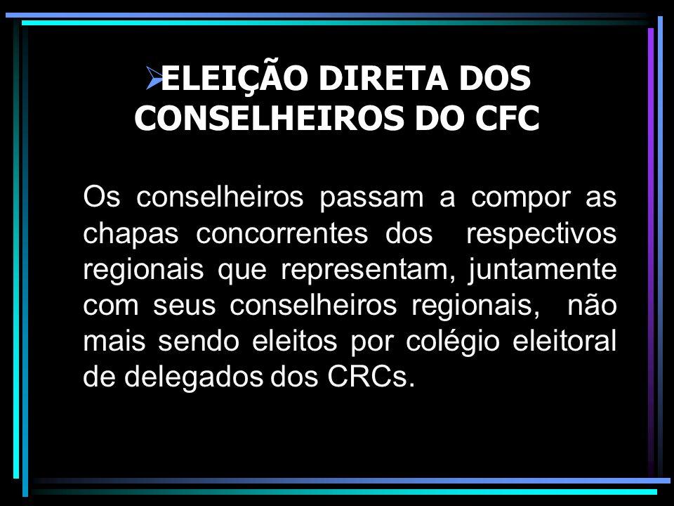 ELEIÇÃO DIRETA DOS CONSELHEIROS DO CFC