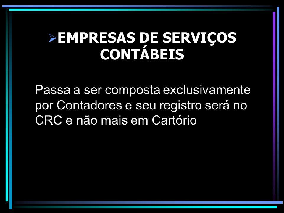 EMPRESAS DE SERVIÇOS CONTÁBEIS