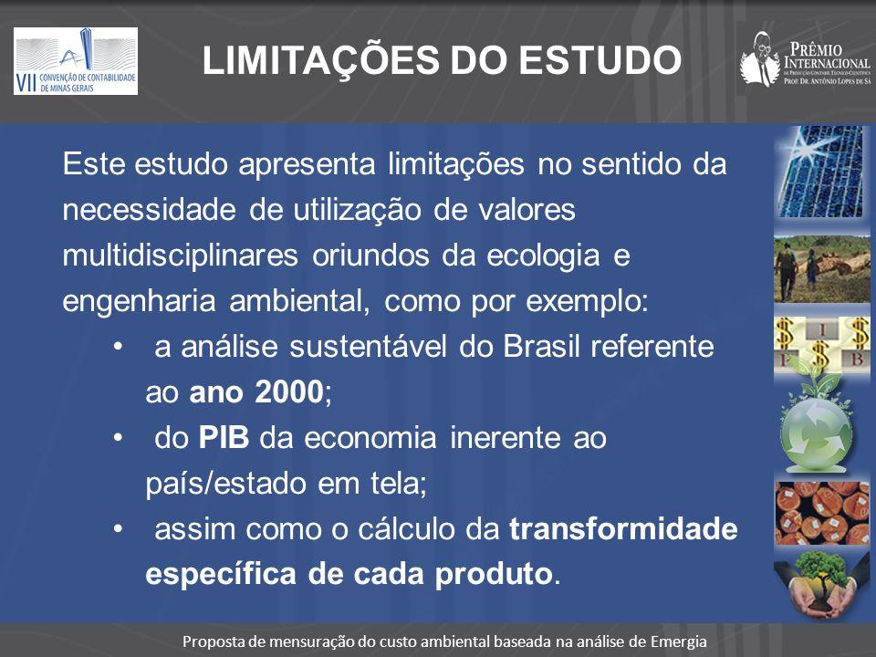 LIMITAÇÕES DO ESTUDO