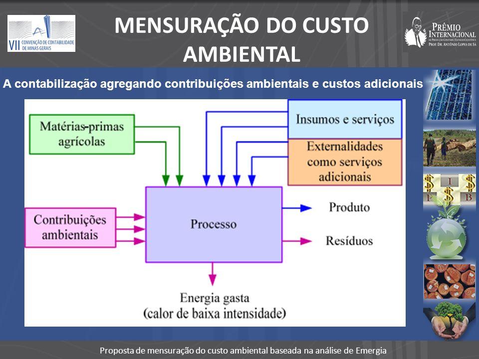 MENSURAÇÃO DO CUSTO AMBIENTAL