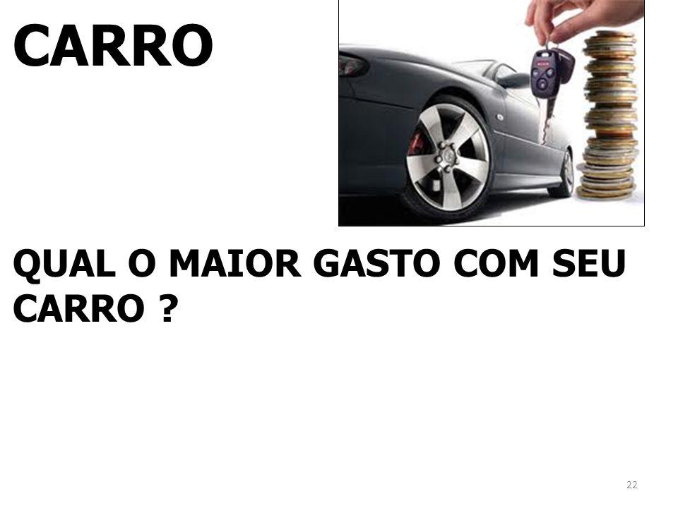 CARRO QUAL O MAIOR GASTO COM SEU CARRO