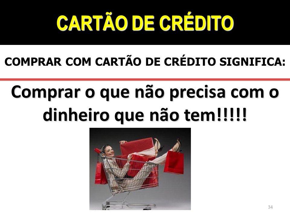COMPRAR COM CARTÃO DE CRÉDITO SIGNIFICA: