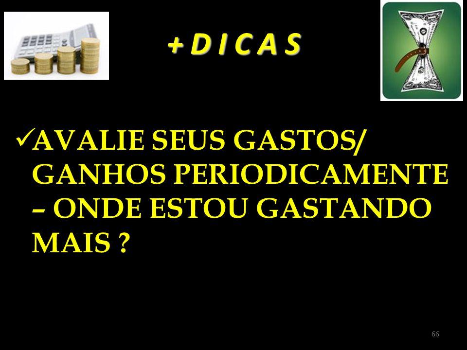 + D I C A S AVALIE SEUS GASTOS/ GANHOS PERIODICAMENTE – ONDE ESTOU GASTANDO MAIS