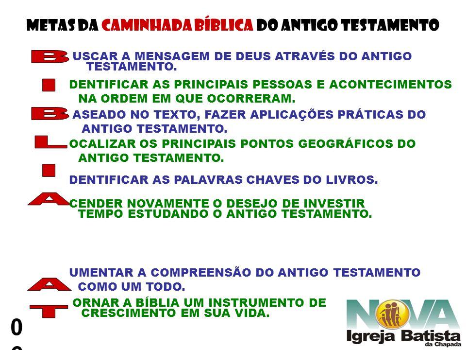 METAS DA CAMINHADA BÍBLICA DO ANTIGO TESTAMENTO