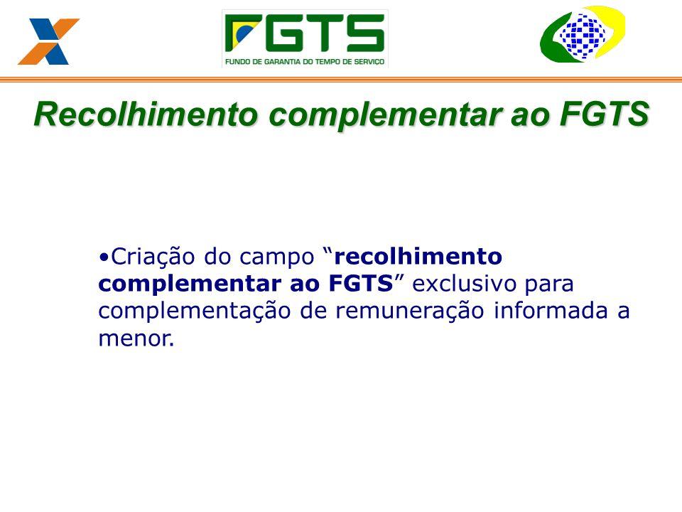 Recolhimento complementar ao FGTS