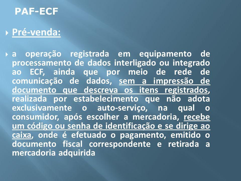 PAF-ECFPré-venda: