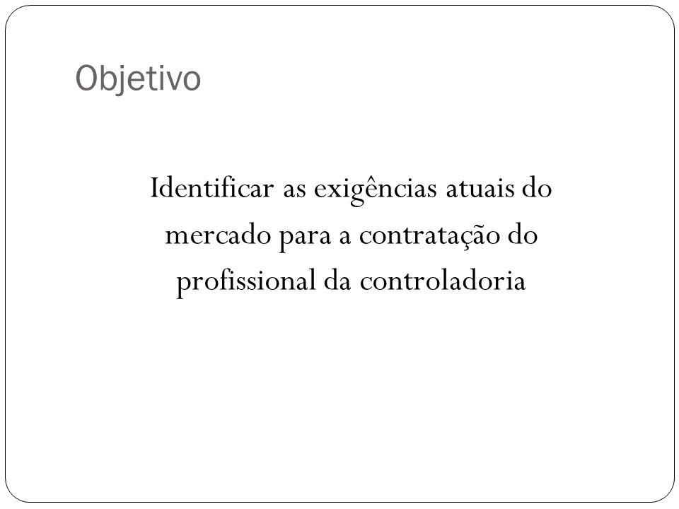 ObjetivoIdentificar as exigências atuais do mercado para a contratação do profissional da controladoria