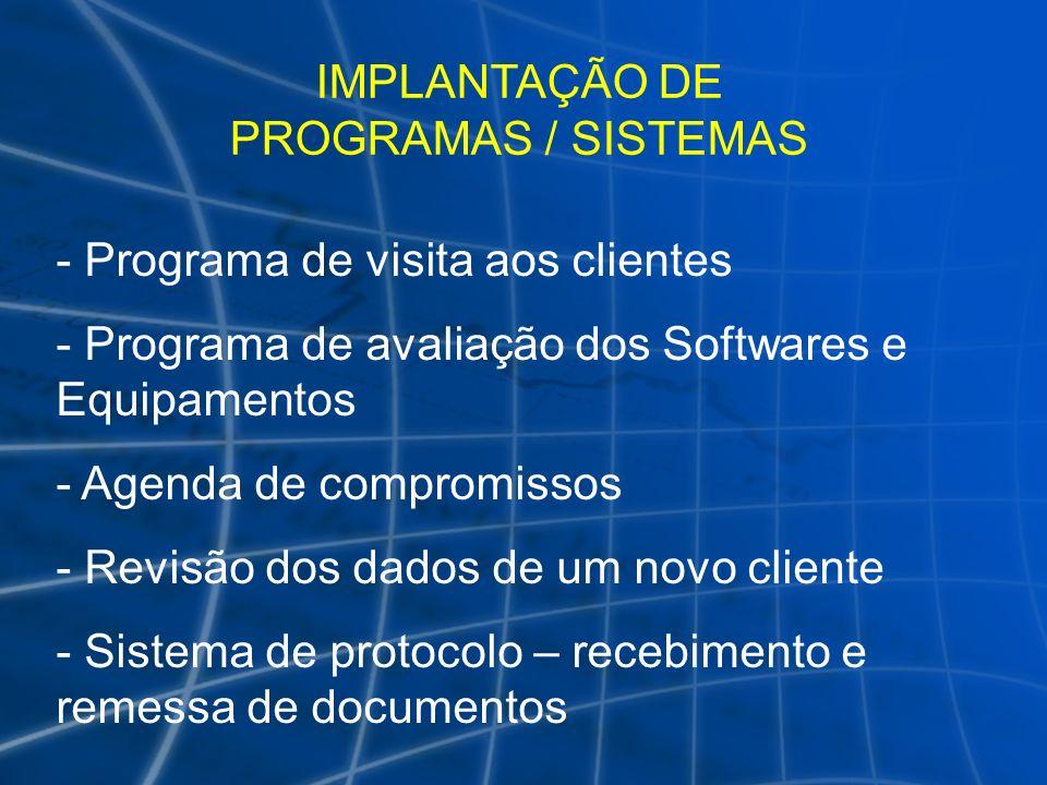 IMPLANTAÇÃO DE PROGRAMAS / SISTEMAS