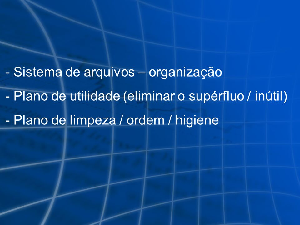 Sistema de arquivos – organização
