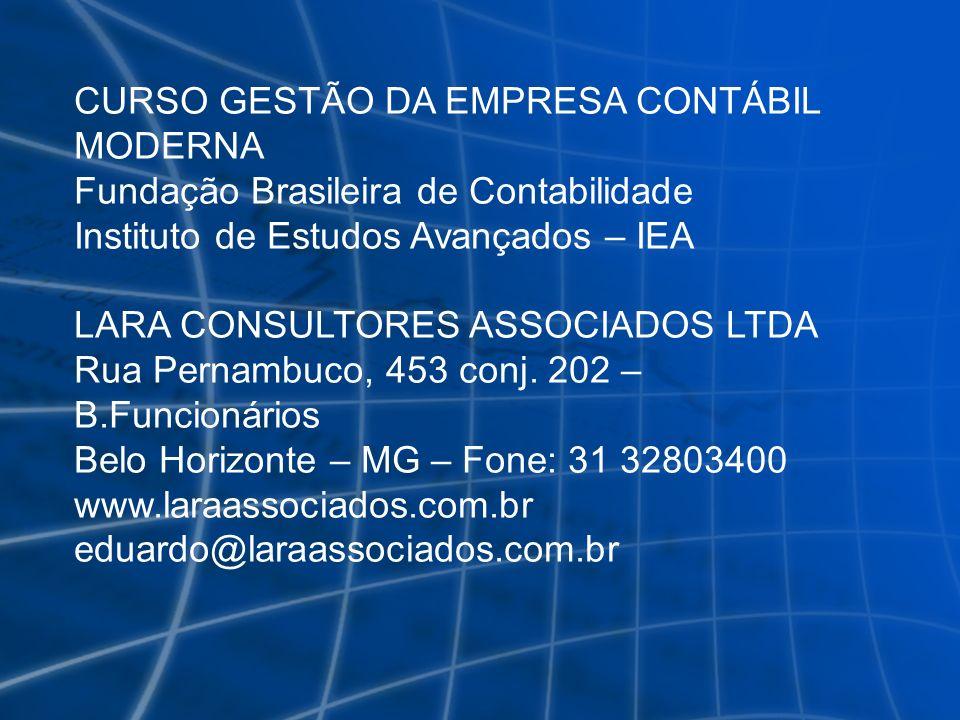 CURSO GESTÃO DA EMPRESA CONTÁBIL MODERNA