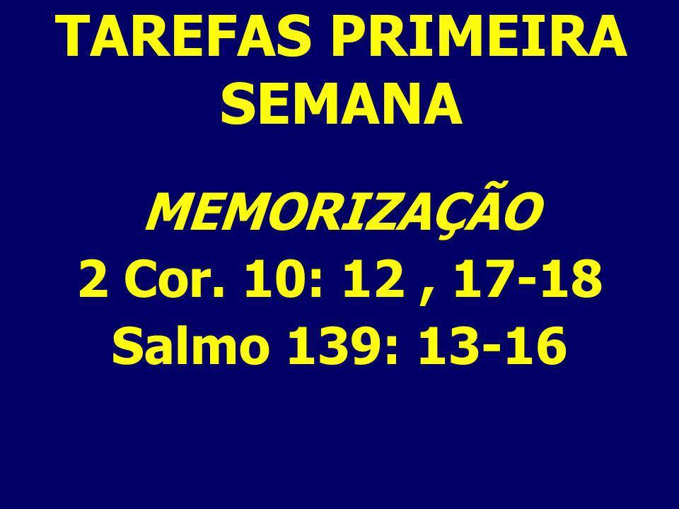TAREFAS PRIMEIRA SEMANA