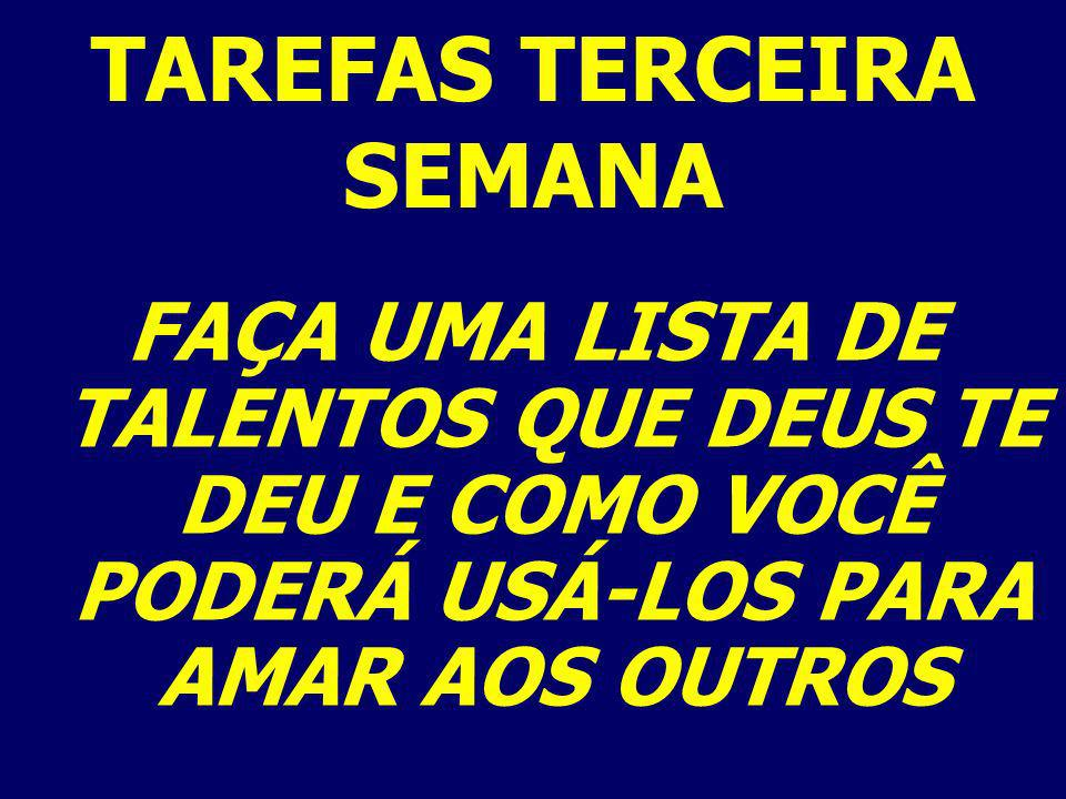TAREFAS TERCEIRA SEMANA