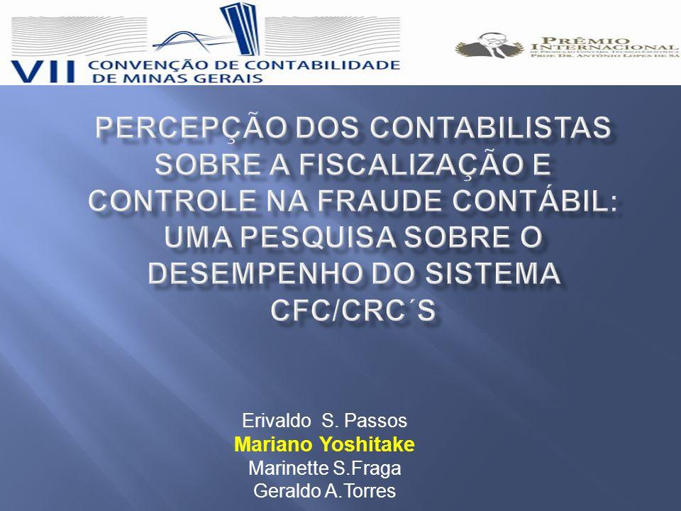 Percepção dos contabilistas sobre a fiscalização e controle na fraude contábil: uma pesquisa sobre o desempenho do sistema CFC/CRC´s