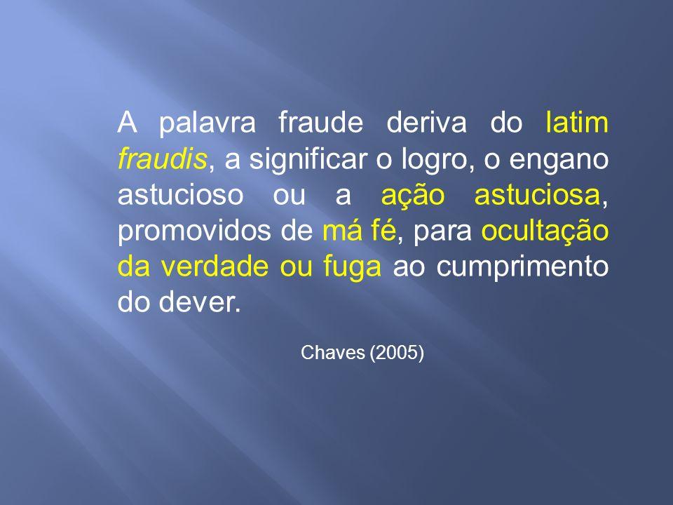 A palavra fraude deriva do latim fraudis, a significar o logro, o engano astucioso ou a ação astuciosa, promovidos de má fé, para ocultação da verdade ou fuga ao cumprimento do dever.