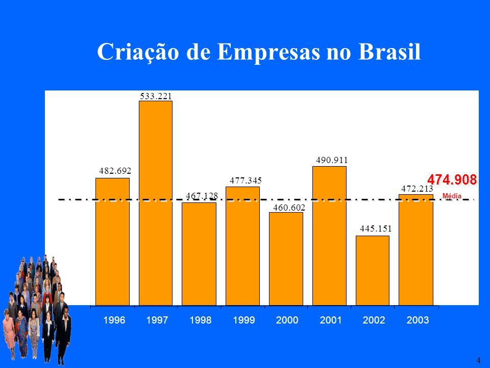 Criação de Empresas no Brasil