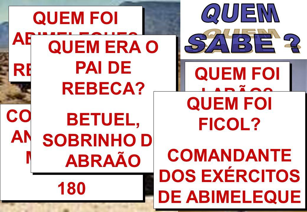 BETUEL, SOBRINHO DE ABRAÃO QUEM FOI LABÃO