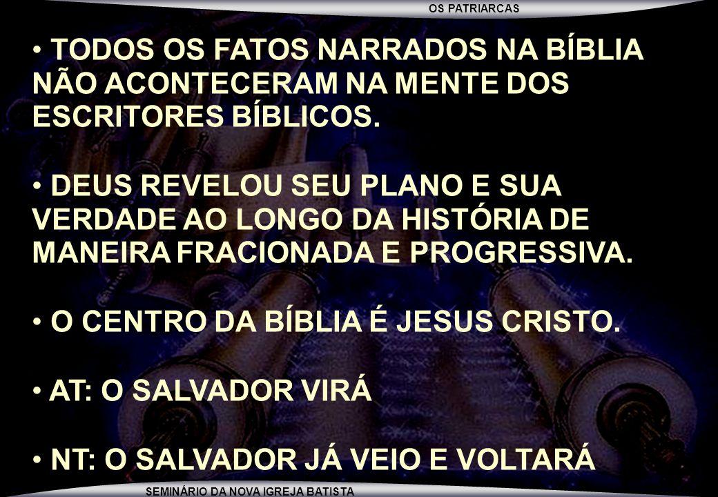 TODOS OS FATOS NARRADOS NA BÍBLIA NÃO ACONTECERAM NA MENTE DOS ESCRITORES BÍBLICOS.