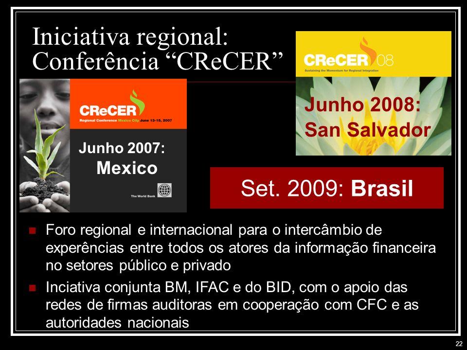 Iniciativa regional: Conferência CReCER