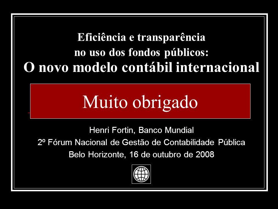 Eficiência e transparência no uso dos fondos públicos: O novo modelo contábil internacional