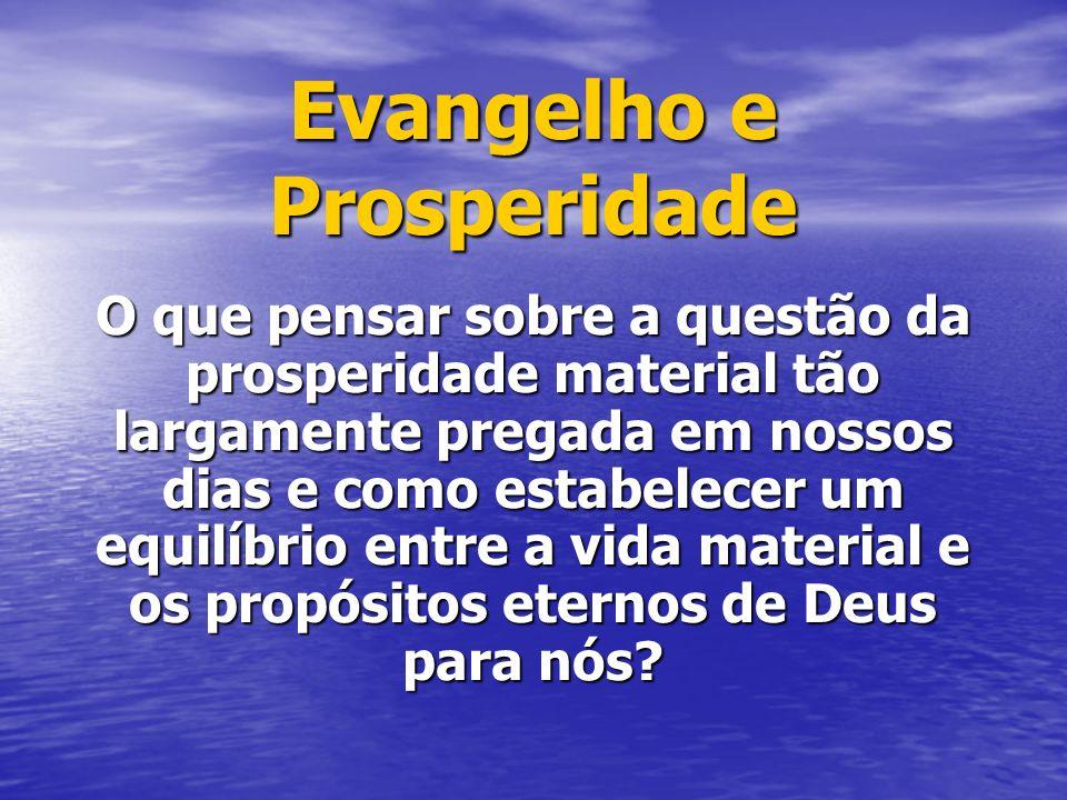 Evangelho e Prosperidade