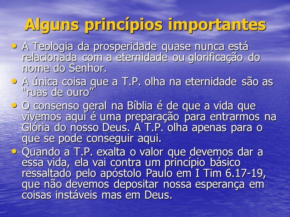 Alguns princípios importantes