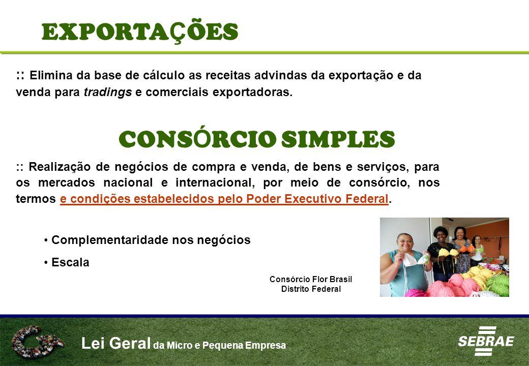 EXPORTAÇÕES CONSÓRCIO SIMPLES