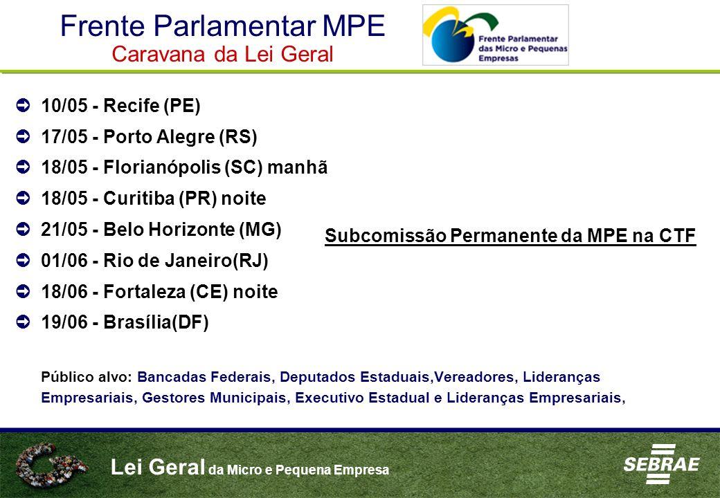 Frente Parlamentar MPE Caravana da Lei Geral