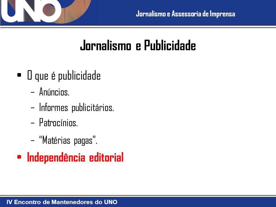 Jornalismo e Publicidade