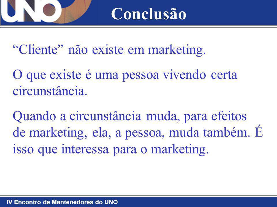 Conclusão Cliente não existe em marketing.