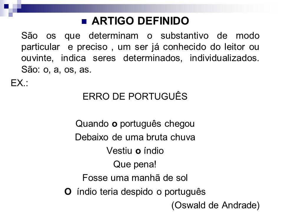 ARTIGO DEFINIDO