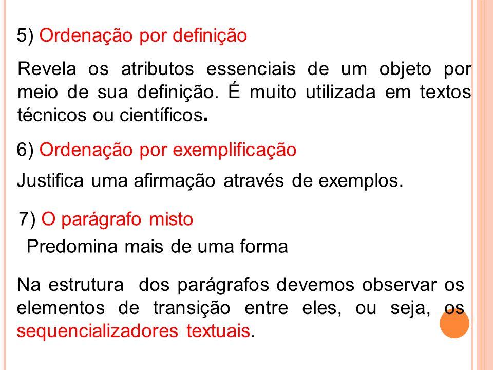 5) Ordenação por definição