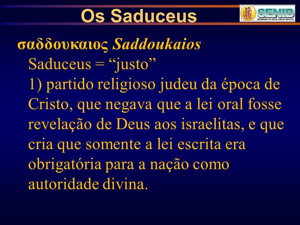 Os Saduceus