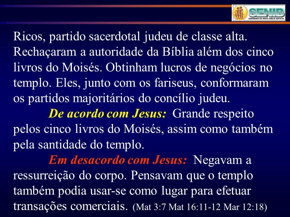 Ricos, partido sacerdotal judeu de classe alta