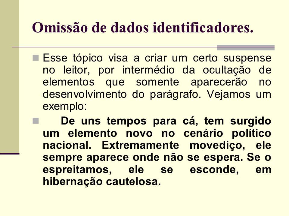 Omissão de dados identificadores.