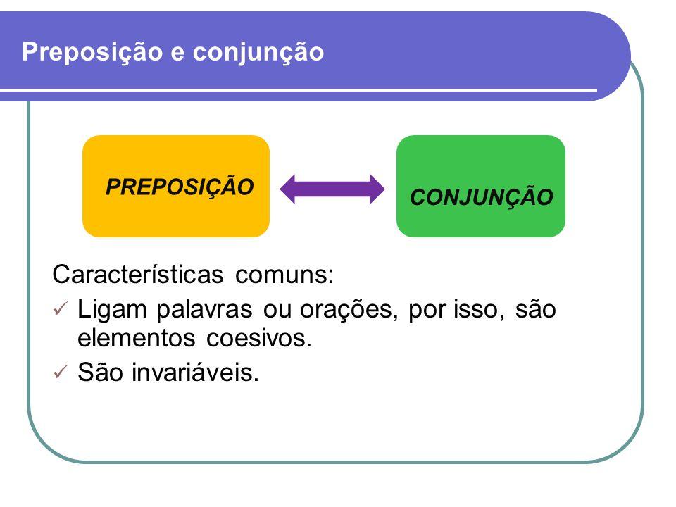 Preposição e conjunção