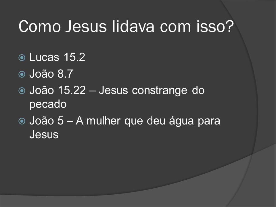 Como Jesus lidava com isso