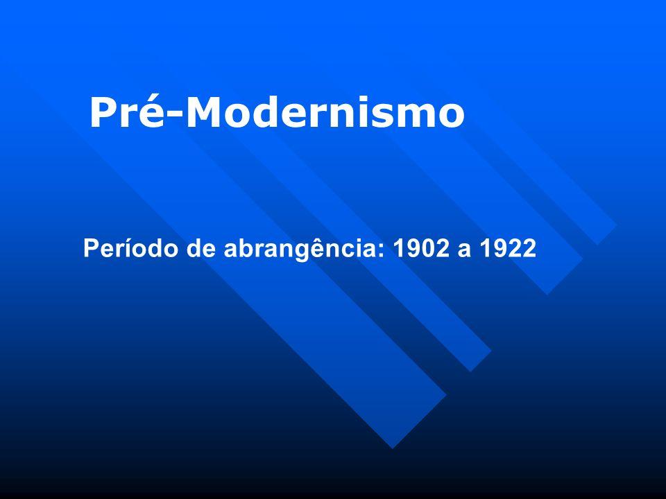 Pré-Modernismo Período de abrangência: 1902 a 1922