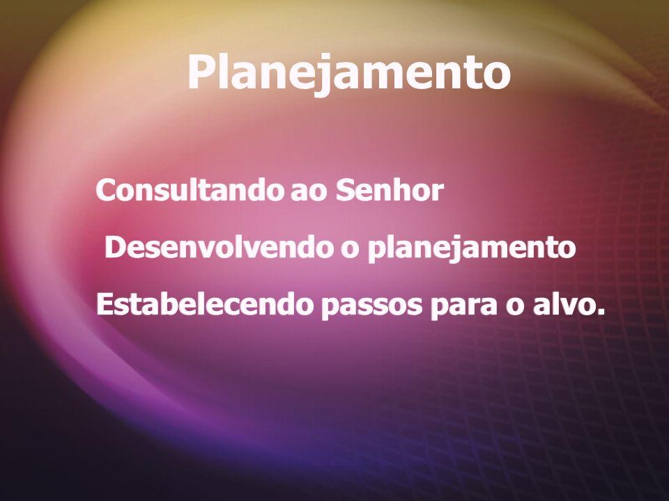 Planejamento Consultando ao Senhor Desenvolvendo o planejamento