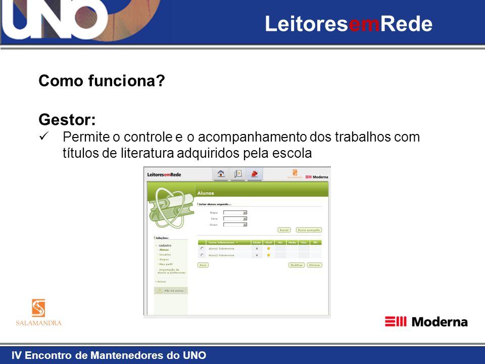 LeitoresemRede Como funciona Gestor: