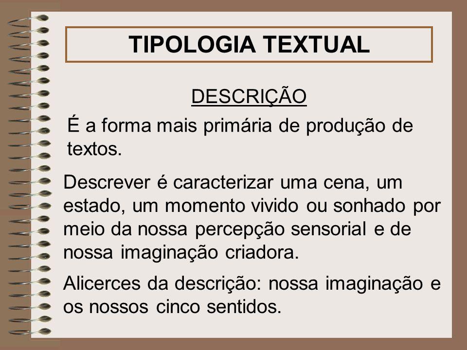 TIPOLOGIA TEXTUAL DESCRIÇÃO