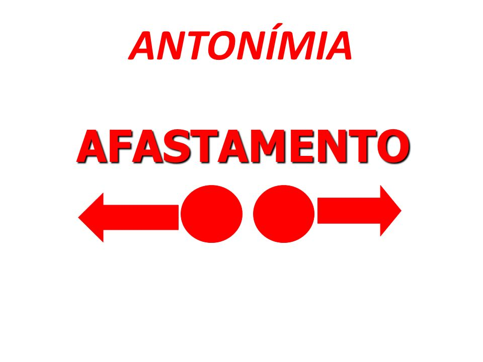 ANTONÍMIA AFASTAMENTO