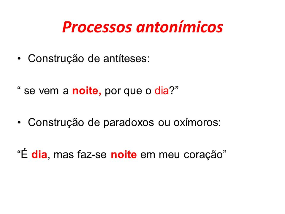 Processos antonímicos
