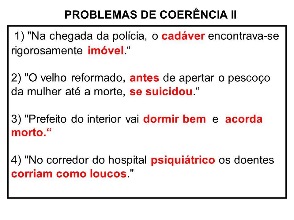 PROBLEMAS DE COERÊNCIA II